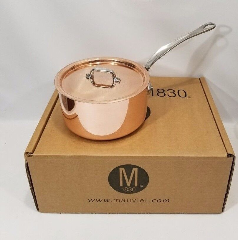 Mauviel France 2 Quart Saucepan Copper TriPly Stainless Handle NEW