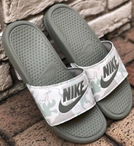 check out 8e054 14fff Image is loading Nike-Benassi-JDI-PRINT-Mens-Slider-Slides-Slip-