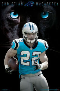 a95e70a91b5 Image is loading CHRISTIAN-MCCAFFREY-Carolina-Panthers -Official-NFL-Football-Action-