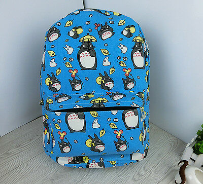 My Neighbor Totoro Canvas School Bag Shoulder Bag Backpack Rucksack Pocket Purse