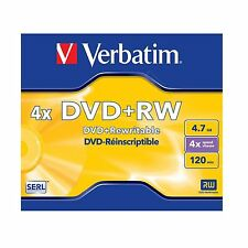 Verbatim DVD+RW 4.7GB 120Min (4x) DVD Rewritable 43228 REWRITABLE BLANK DVD DISC
