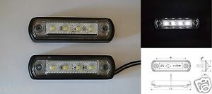 2x-Front-White-LED-Marker-Lights-for-Roll-Bull-Bar-SUV-OffRoad-Car-KitCar-Trike