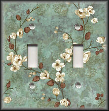 Metal Light Switch Plate Cover Dogwood Flower Branches Home Decor Brown Ebay