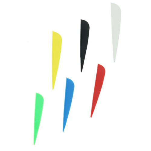 50pcs 3 Inches Shield Feather Arrow Archery Fletching Turkey Vanes Shaft Outdoor