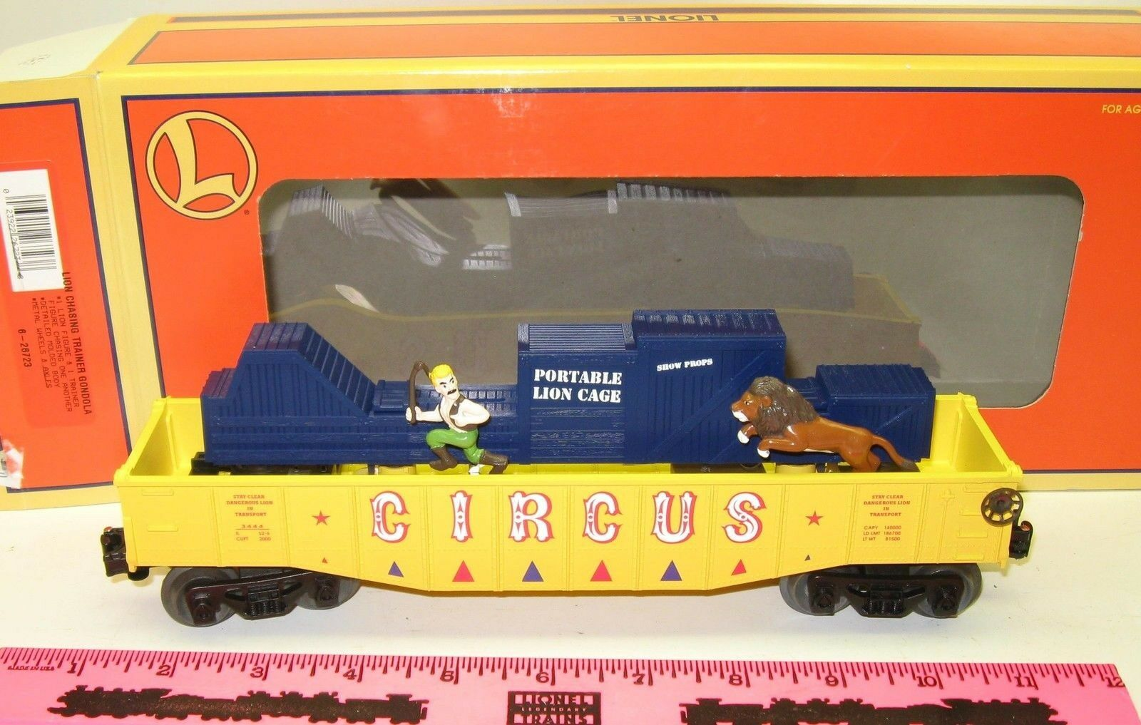 New Lionel 6-26723 Lion Chasing Trainer Gondola  3444