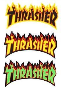"Thrasher Magazine Logo Rectangle Sticker 1.5/"" Skateboard Decal 3 Color Choices"