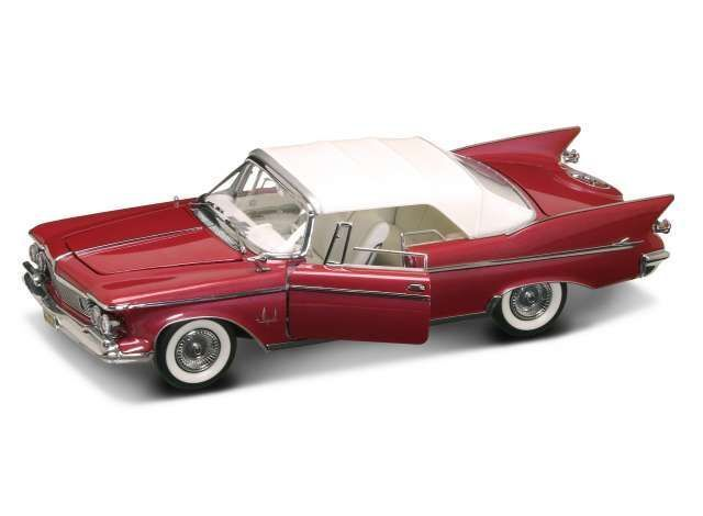 Chrysler Imperial closed converdeible 1961 rojo blancoo 1 18 Model Lucky la cast