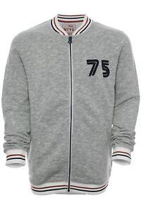 Tom-Tailor-Sweatjacke-Sweat-Shirt-Jacke-Collegjacke-Herren-Langarm-Baumwolle