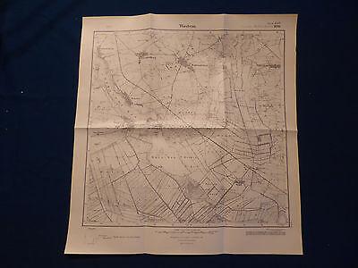 Landkarte Meßtischblatt 3143 Wustrau, Rüthnick, Radensleben, Karwe, Von 1945 Heller Glanz