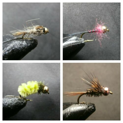 4 MODELS 1 DOZEN  BEAD HEAD NYMPHS FOR FLY FISHING -BH 56