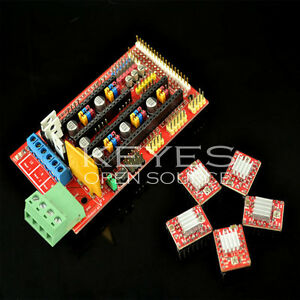 RAMPS-1-4-Control-Board-5X-A4988-Stepstick-Driver-for-3D-Printer-RepRap-Arduino