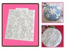 Katy Sue Snowflakes Design Texture Mat Sugarcraft Mould Christmas or Frozen Cake