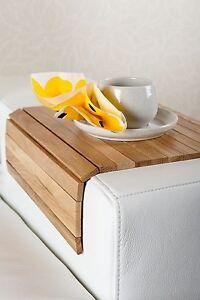 Details Zu Sofatablett Hocker Sofa Couch Armlehne Ablage Tablett Massiv Eiche Holz Neu