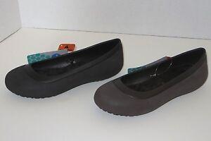 NEW Womens CROCS KADEE Ballet Flats Shoes 6 8 7 9 10 11 Black Brown Pink Gray