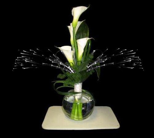 Glowbys Sparkle Light Fiber Optic Floral Glowby flower arrangement centerpiece