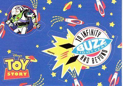 Toy Story Stickers Card Skybox Disney Pixar Buzz Lightyear 2 of 8 1995