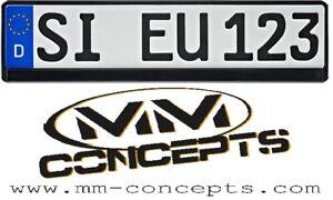 2 x Kennzeichenhalter Nummernschildhalter KFZ Kennzeichen EU Schwarz Halter Auto