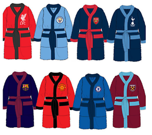 Men/'s Official Football Club Fleece Dressing Gown Robe Size Medium Large XL