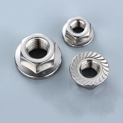 M3 M4 M5 M6 M8 M10 M12 NYLOC LOCK NUTS 316 A4 STAINLESS STEEL HEX LOCK NUTS