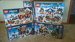 Lego-Winter-Market-Toy-Shop-Fire-Station-10235-10245-10249-10263-Boxes-Only