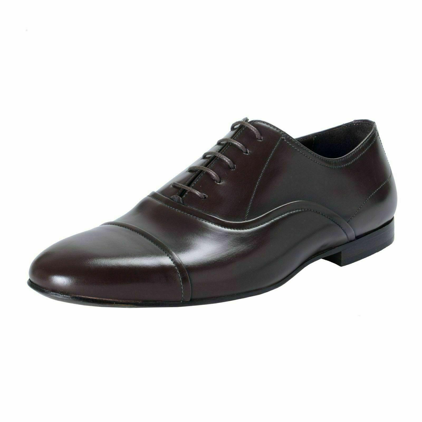 A.Testoni Basic Herren Leder Dunkelbraun Schnürschuhe Oxford Schuhe US 9 It 42