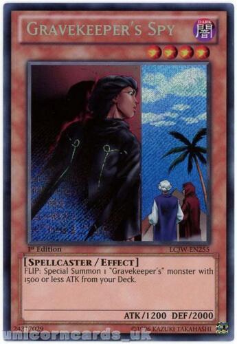 LCJW-EN255 Gravekeeper/'s Spy Secret Rare 1st Edition Mint YuGiOh Card