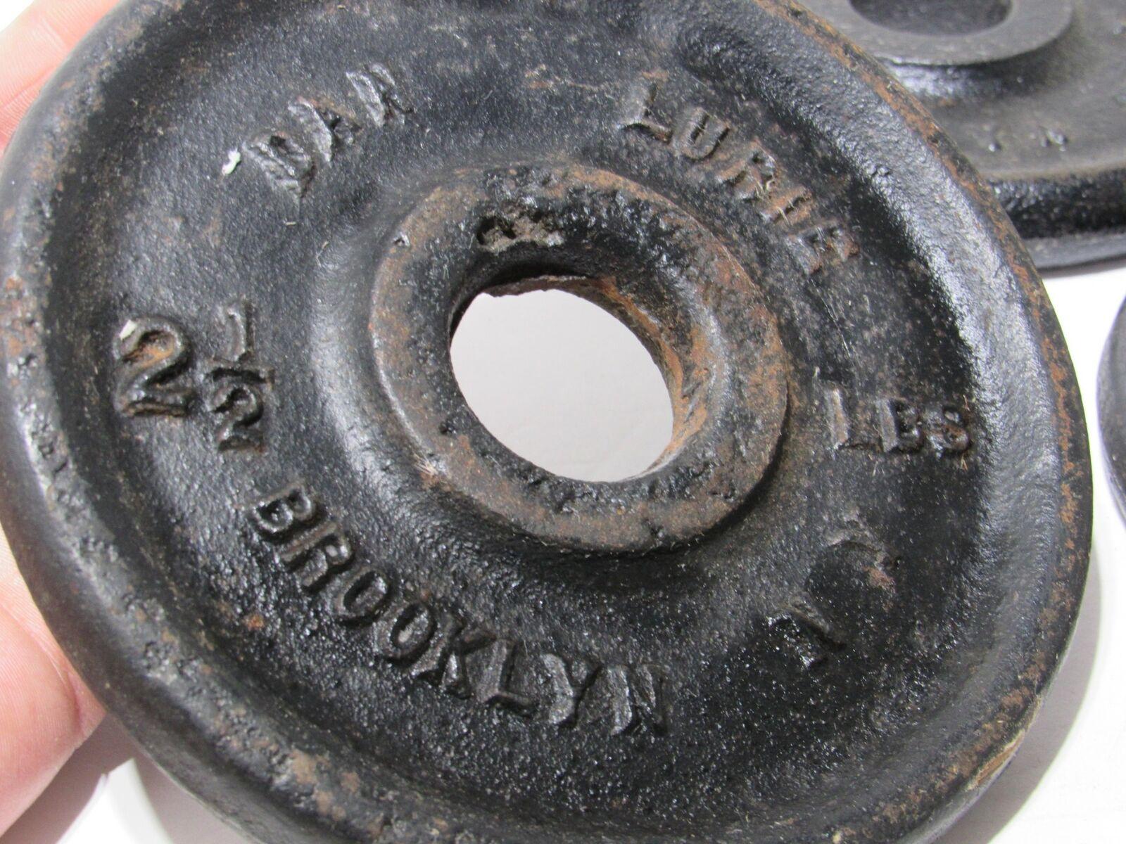 Lot av 4 Dan Lurie 2.5 LP Weight Plate Brooklyn New York