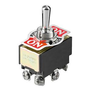 5-x-Kippschalter-250-V-6-A-2-polig-6-Kontakte-4-x-Schliesser-Ein-Aus-Ein-5222