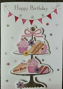 Image Is Loading HAPPY BIRTHDAY HANDMADE CUPCAKES AND CAKE GENERAL