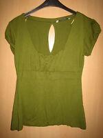 Damen Top-Bluse Clockhouse Grösse XL Farbe grün