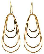 Zest Multi Loop Fishtail Hook Pierced Earrings Golden