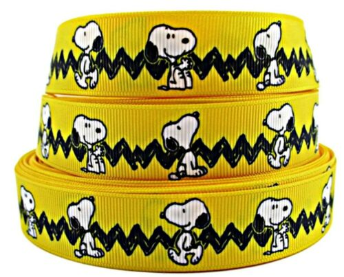"""USA SELLER Snoopy Character 1/"""" Wide Repeat Ribbon Sold in Yards"""