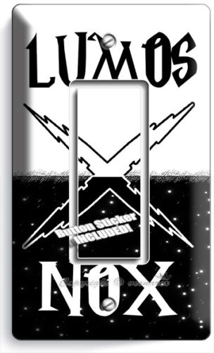 HARRY POTTER LUMOS NOX MAGIC WORDS DARK 1 GFCI LIGHT SWITCH WALL PLATE ART DECOR