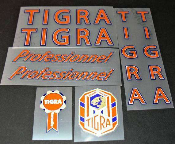 Tigra Professional Vintage Bicycle Decal Set (sku 10033)