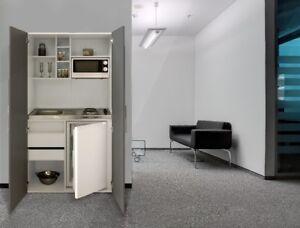 Cucine Bianco Grigio : Cucina armadio mini cucinino pantry blocco bianco grigio respekta