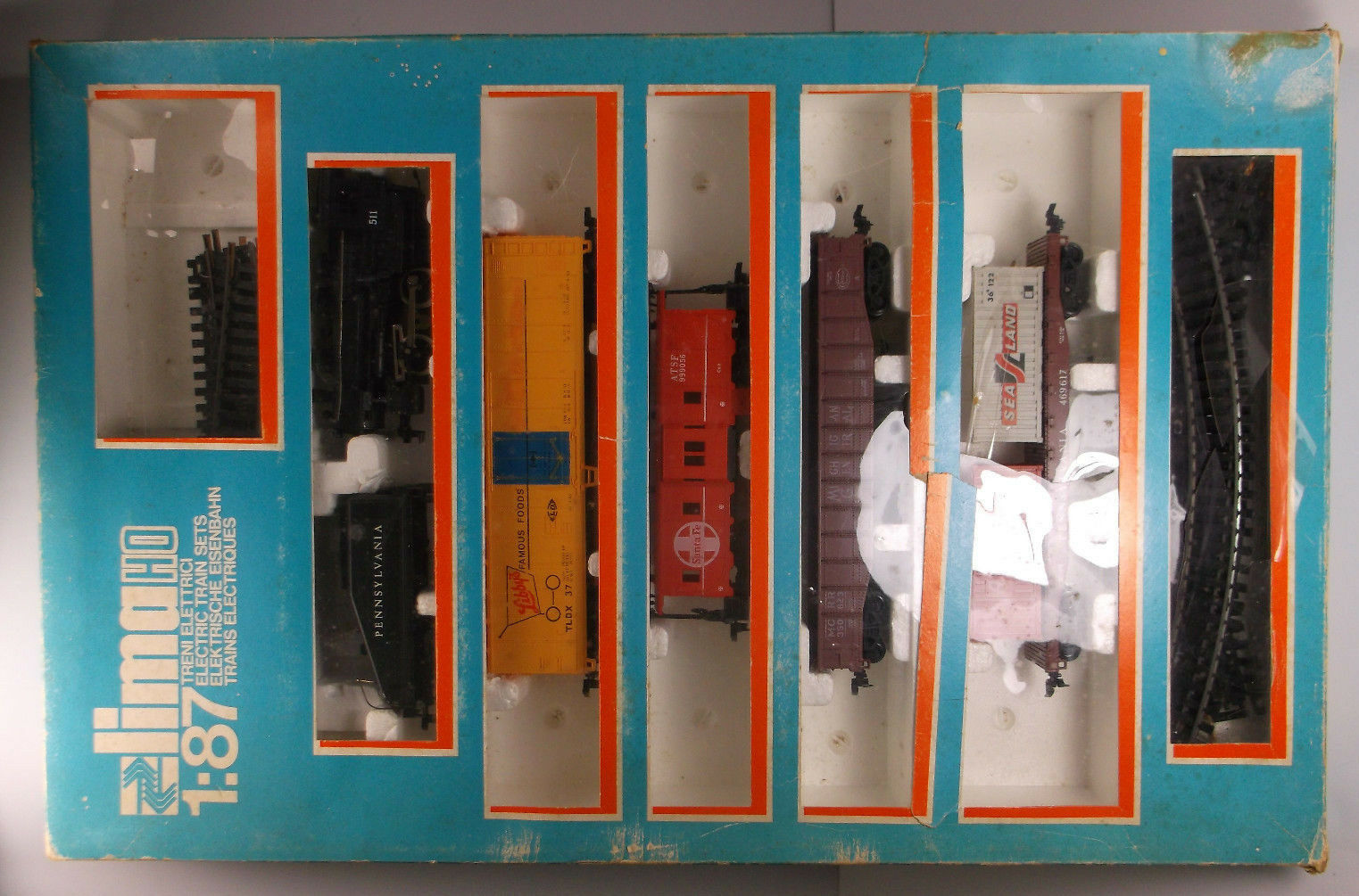 Vintage Rare 1 87 Lima HO Train Set in box 1970s made in