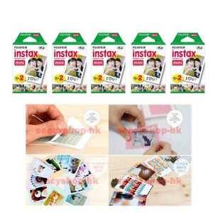 10 Packs Fujifilm instax Mini Film,100 Fuji instant photos Mini 9 8 7s 90 25 55i