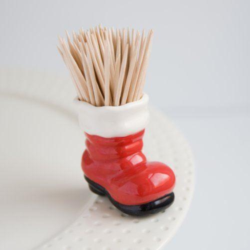 Big Guy/'s Boots Hand-Painted Ceramic Charm Nora Fleming Santa/'s Boot Mini