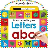 Wipe Clean Letter Book, Learning Games Kids Activities Crafts Alphabets on Sale