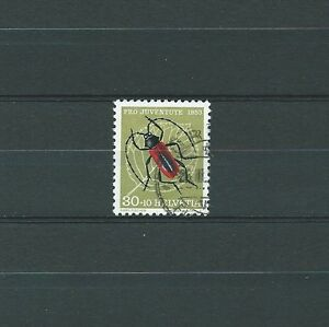 SWISS-SUISSE-INSECTES-1953-YT-542-MI-591-USED-COTE-10-00