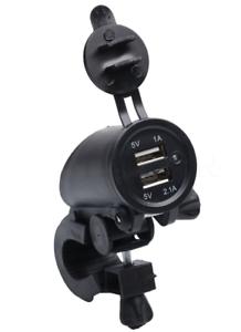 7-8-034-Motorcycle-ATV-Handlebar-Waterproof-Dual-USB-Charger