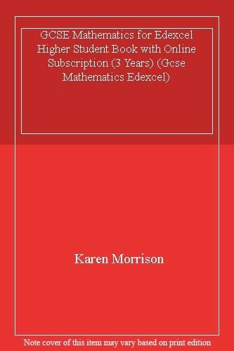 GCSE Mathematics for Edexcel Higher Student Book with Online Subscription (3 Ye