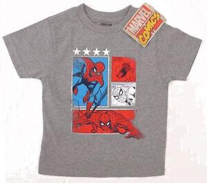 Boys Marvel Spiderman Kids Tee Shirt Spider-Man T Shirt 18m 24m 2 3 4 5 6 7 8