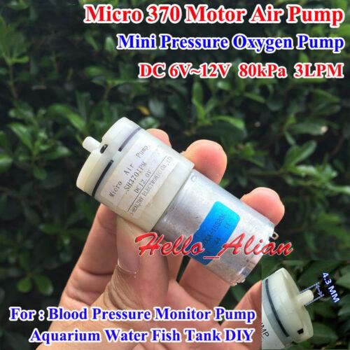 DC3V~12V 5V 6V 9V Mini 370 Motor Air Pump Oxygen Pump For DIY Aquarium Fish Tank