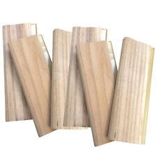 6 Pcs 13 Silk Screen Printing Squeegee Wood Ink Scraper 33cm Waterbased Tool