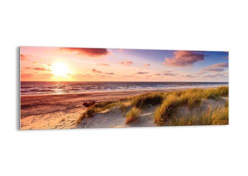 GLASBILD Wandbild Deko Meer Strand Düne 3540 DE