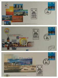 1997-to-2000-Hong-Kong-Issued-World-039-s-Stamp-Exhibition-covers-12pcs