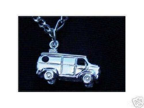 Cool Mini Van Car Colgante de plata esterlina encanto Joyas