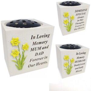 Memorial New Daffodil Dove Bird Graveside Flower Holder Grave Cemetery Vases Pot Ebay