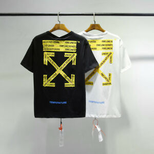 f65d058c2512 OFF- WHITE C O Virgil Abloh Unisex Hip Pop Men s T-Shirt Tee Tops ...